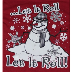 Alabama Crimson Tide T-Shirts - Let It Roll - Houndstooth Snowman